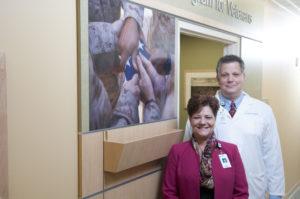 Christine Dawson with Dr. John Kuzma